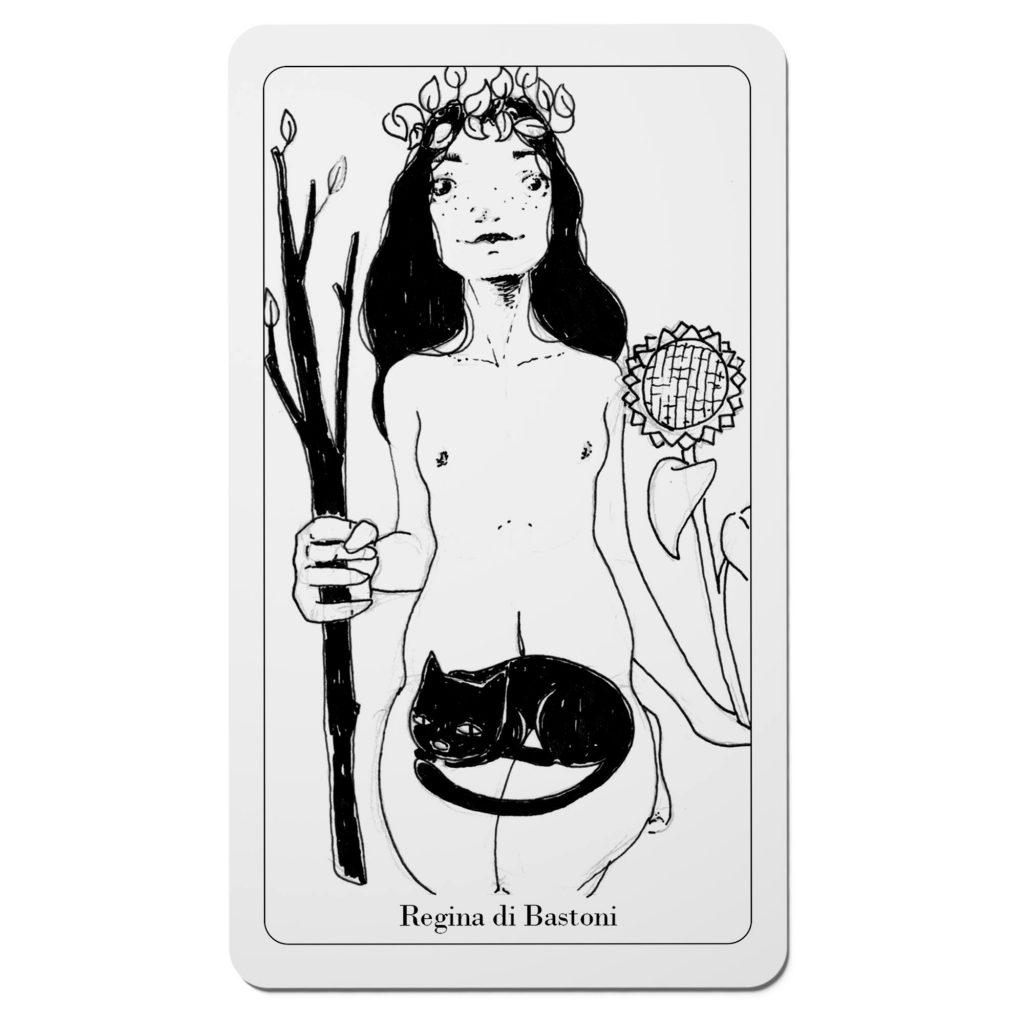 Tarocchi del Disordine - Regina di Bastoni - Arcani Minori - Diego Gabriele