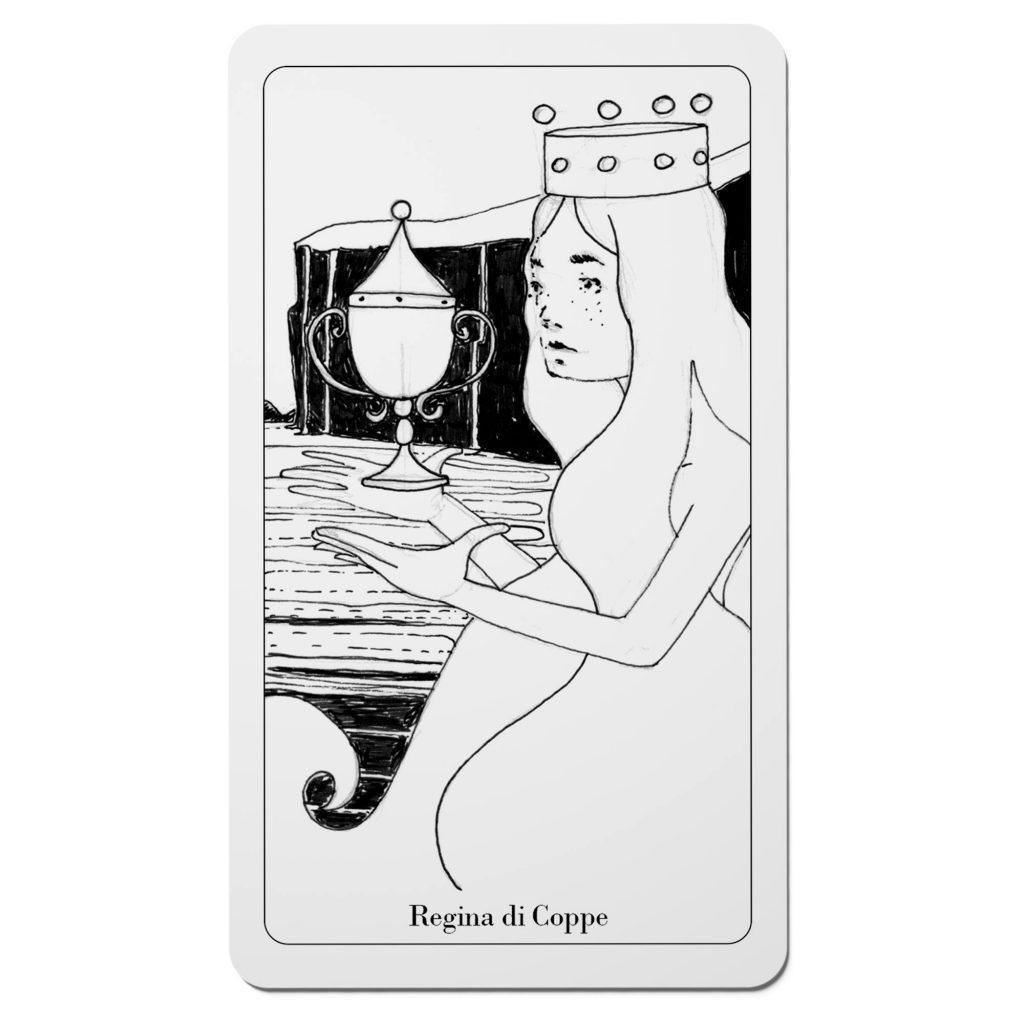 Tarocchi del Disordine - Regina di Coppe - Arcani Minori - Diego Gabriele