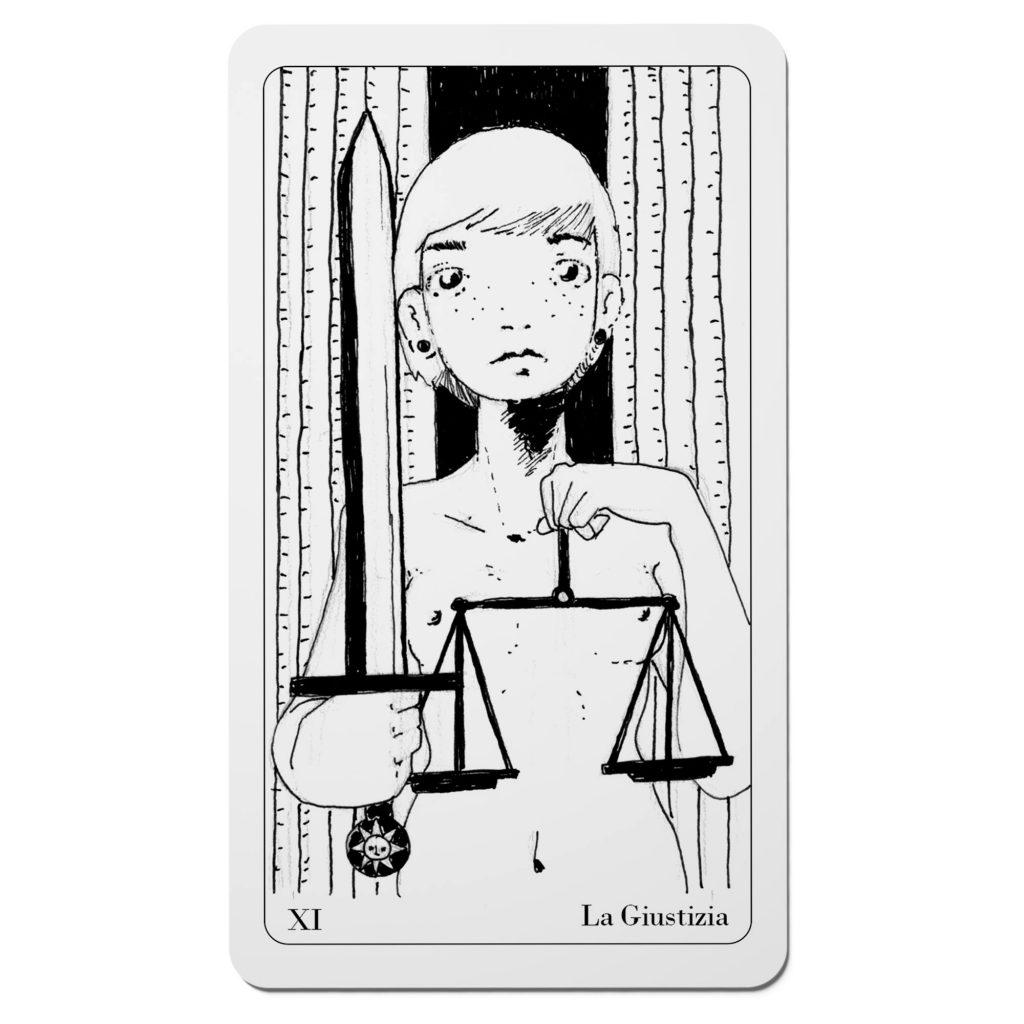 La Giustizia - Tarocchi del Disordine Arcani Maggiori - Diego Gabriele