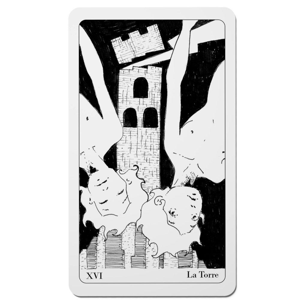 La Torre - Tarocchi del Disordine Arcani Maggiori - Diego Gabriele